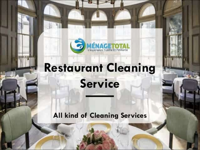 Restaurant Cleaning Services Montreal
