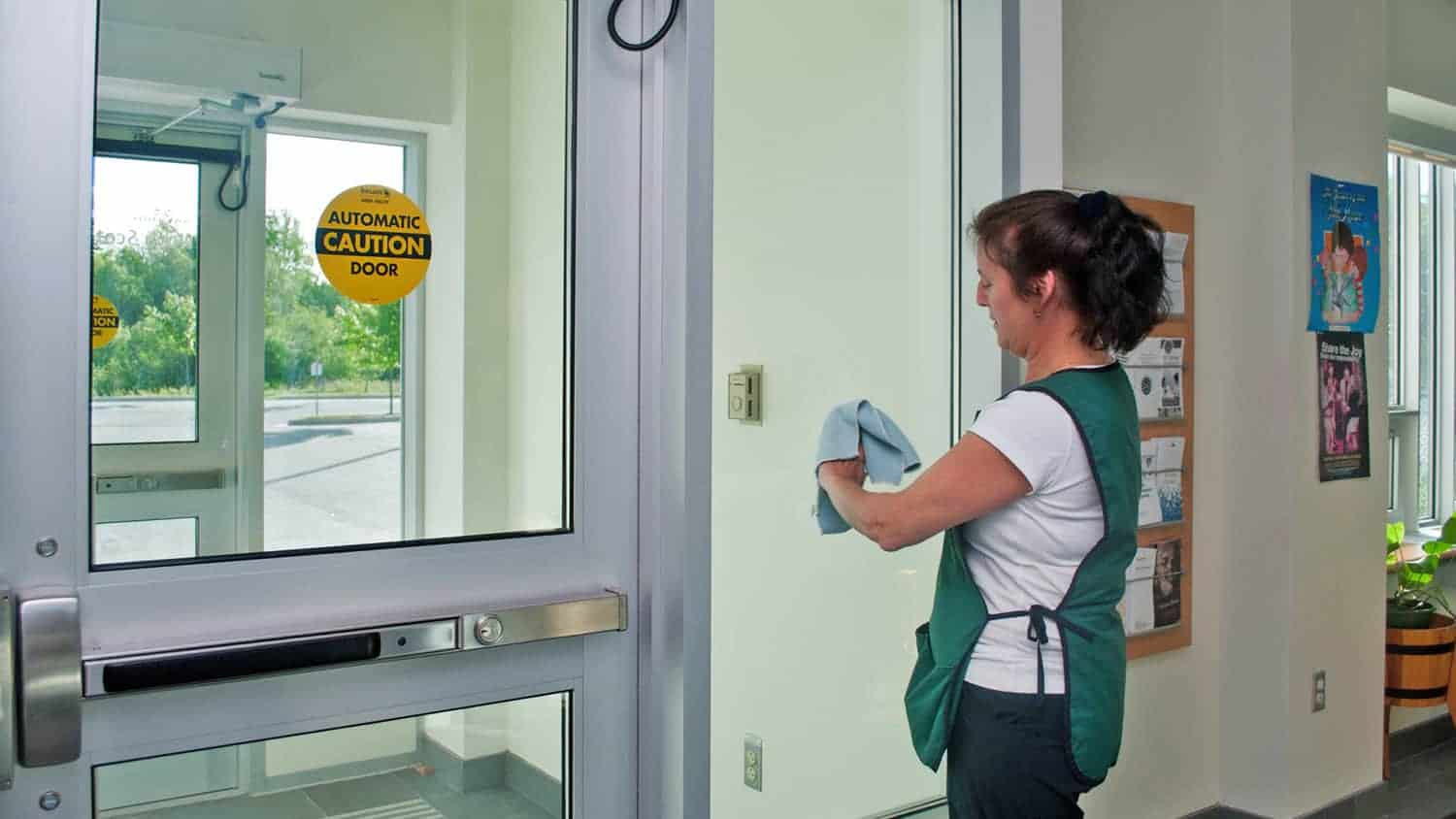 Glass Door Cleaning Services