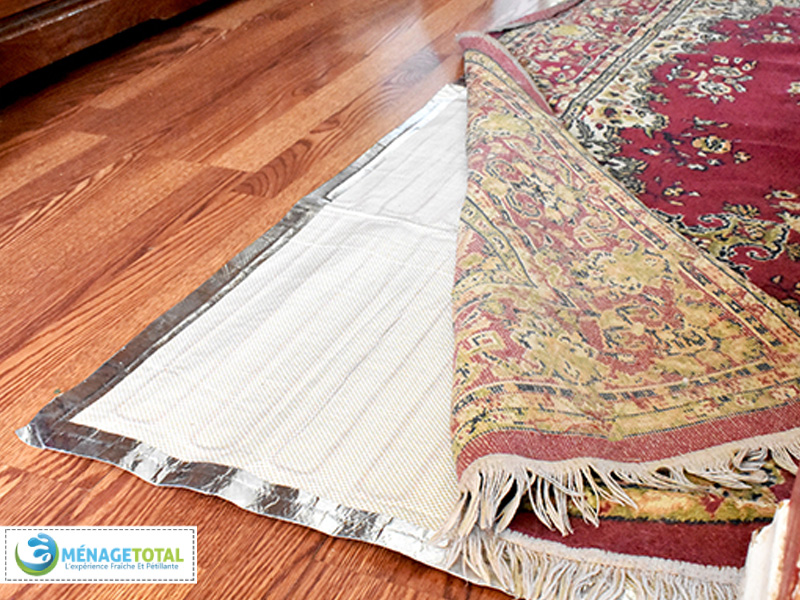 Underneath rugs